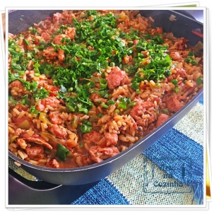 Arroz de linguiça