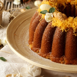 Bolo de Amêndoa & Mel {Almond & Honey Bundt Cake}