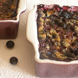 :::Clafoutis de Mirtilhos ::::: 1º Ano do Blogue:::