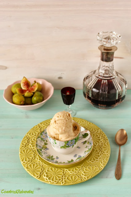 Gelado de figos, Porto e mascarpone | Fig, Port and mascarpone ice cream