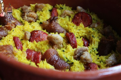 Arroz rural com torresmos ♥♥♥