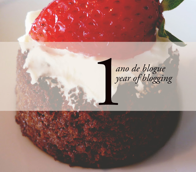 Um ano de blogue/ One year of blogging