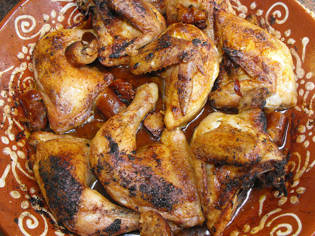 Frango assado no forno