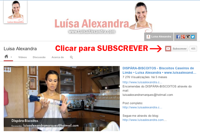 Subscrever o meu canal de YOUTUBE