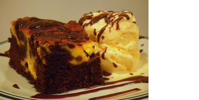 Brownie com mesclado de cheesecake