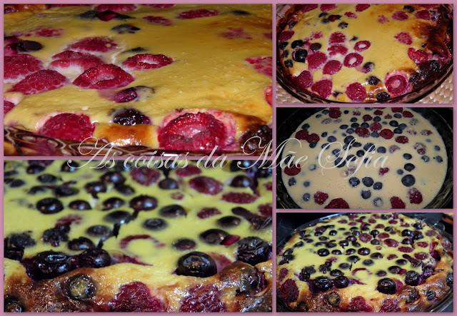 Pudim de Framboesas e Mirtilos / Raspberries and Blueberries Pudding