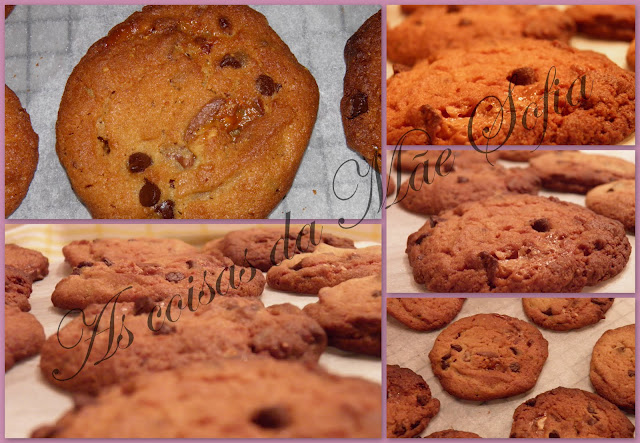 Bolachas de manteiga de amendoim, Snickers e pepitas de chocolate / Peanut butter, Snickers and chocolate chip cookies