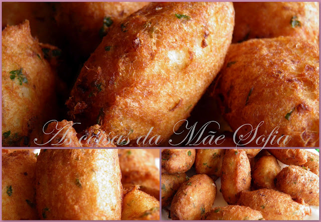 Pasteis de bacalhau / Codfish fried cakes
