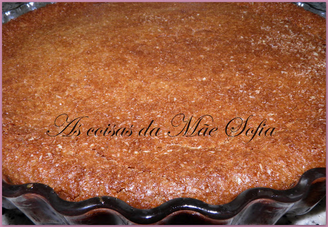 Tarte de chocolate com crosta de côco / Chocolate pie with coconut crust