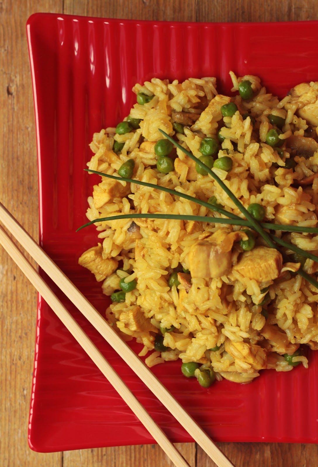 Arroz Thai Jasmin com galinha