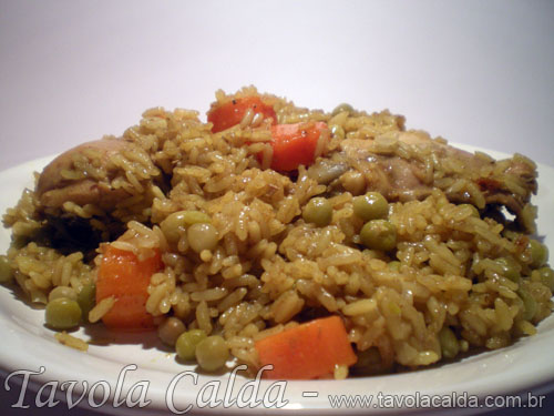 Arroz com Frango e Curry