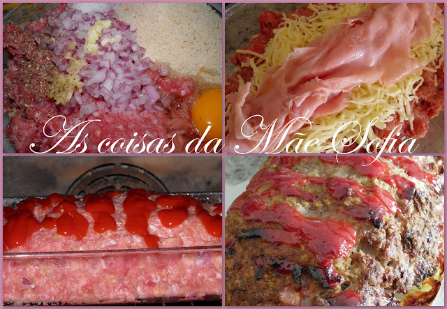 Rolo de carne recheado com queijo e fiambre \ Cheese and ham stuffed meatloaf