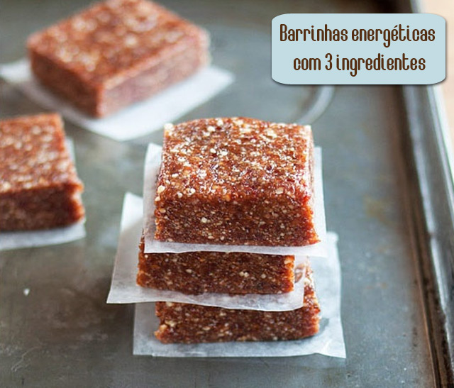 Barrinhas Energéticas com 3 Ingredientes