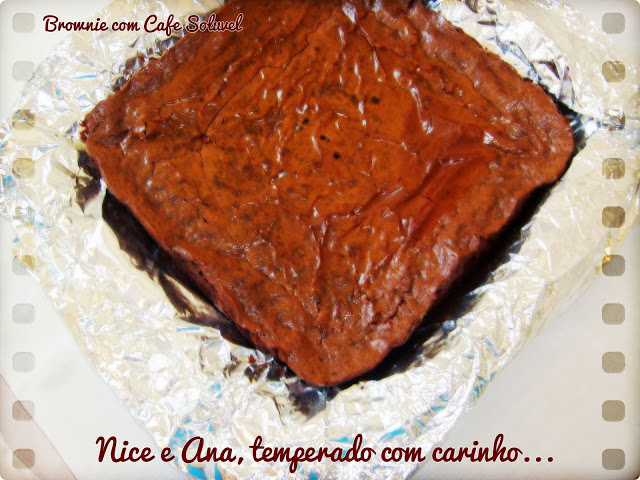 Brownie com Café Solúvel