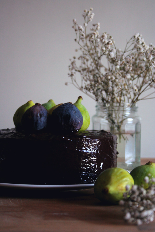 Bolo de chocolate e figos/ Chocolate and fig cake
