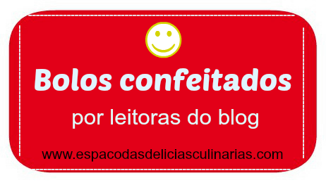 Bolos confeitados de leitoras do blog