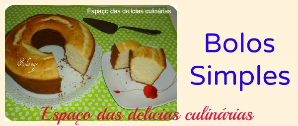 Bolos simples: mural com as fotos e link para a receita do blog