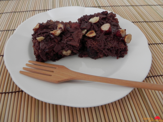 Brownie de Nutella e bananas