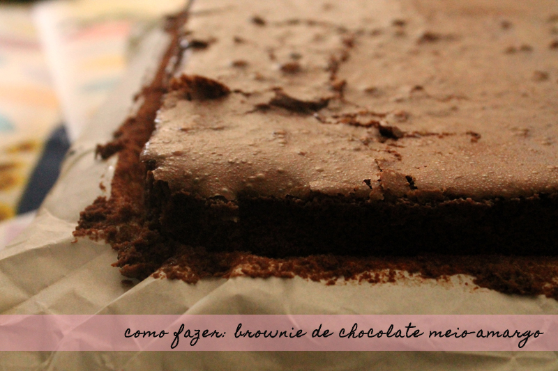 Brownie de Chocolate Meio-Amargo