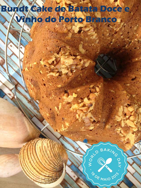 Bundt Cake de Batata Doce e Vinho do Porto Branco- World Baking Day