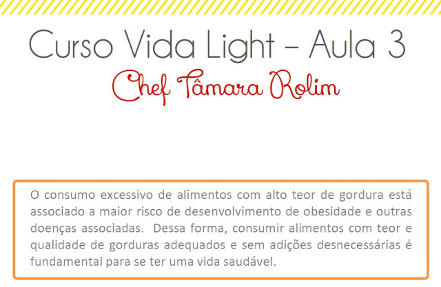 Curso Vida Light - Grelhados