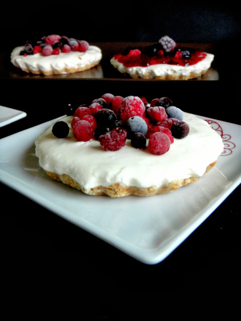 CHEESECAKES DE FRUTOS VERMELHOS