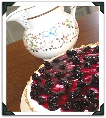 Cheesecake de mirtilo (blueberry)