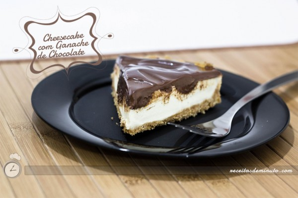 Cheesecake de Geladeira com Ganache Chocolate