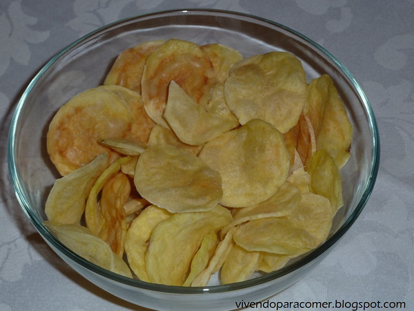Chips no microondas