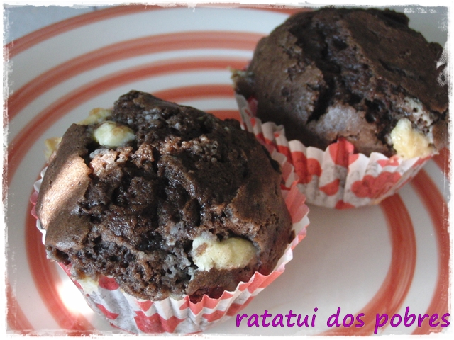Queques de chocolate crocante