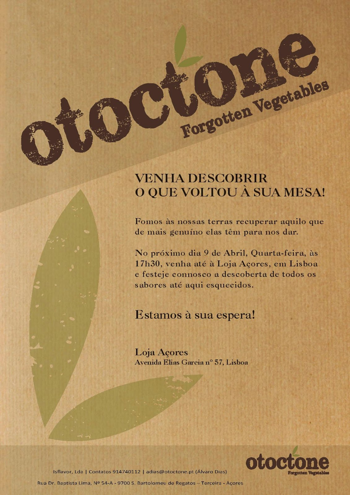 OTOCTONE, FORGOTTEN VEGETABLES