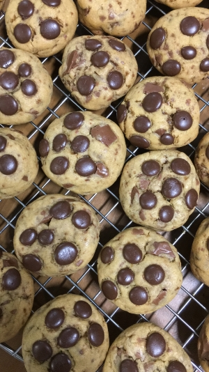 cookies de chocolate ao leite