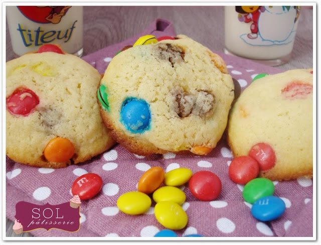 Cookies aux m&m's - Cookies de m&m's