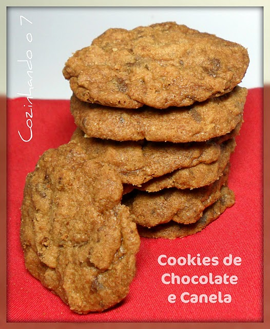 Cookies de Chocolate e Canela