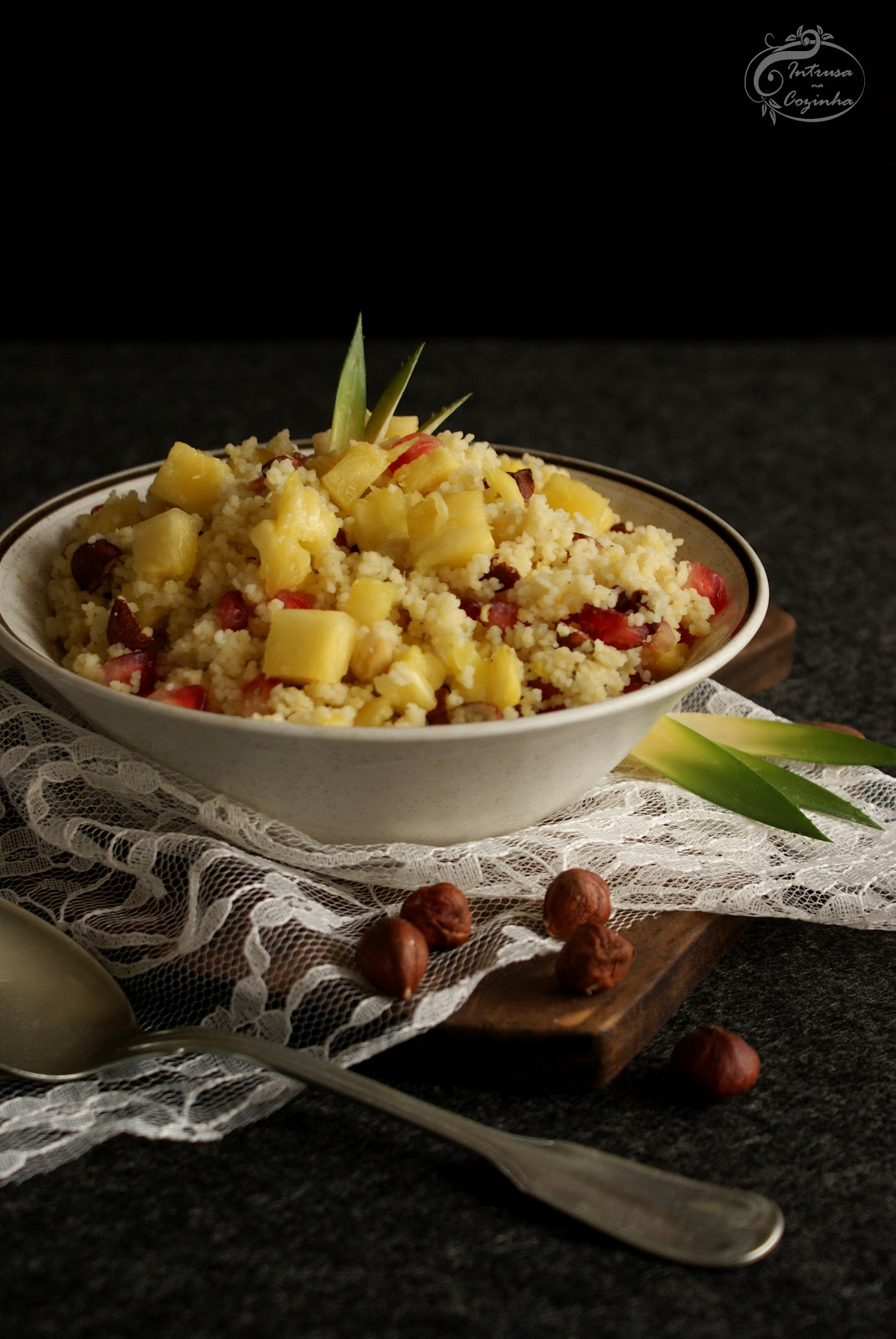 Couscous de Ananás & Romã {Pineapple & Pomegranate Couscous}