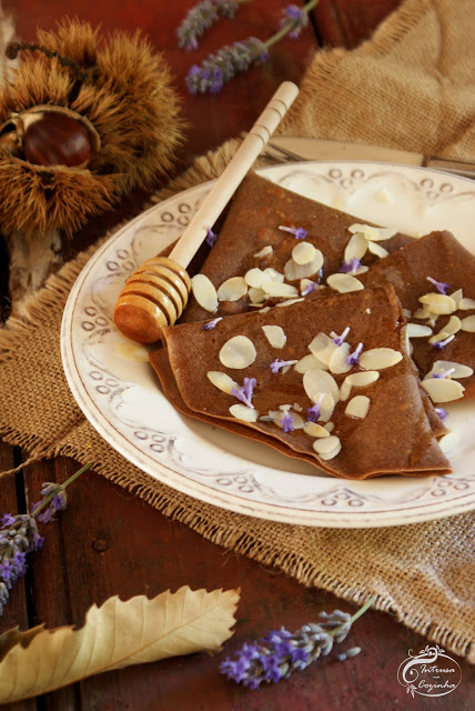 Crepes de Castanha & Chocolate {Chestnut & Chocolate Crepes}