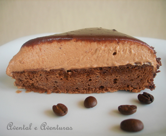 Torta Mousse de Café e Chocolate