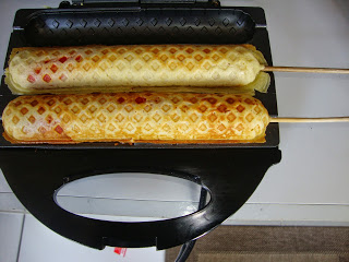 Crepe suíço sabor hot dog