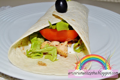 Wraps de Frango e Bacon