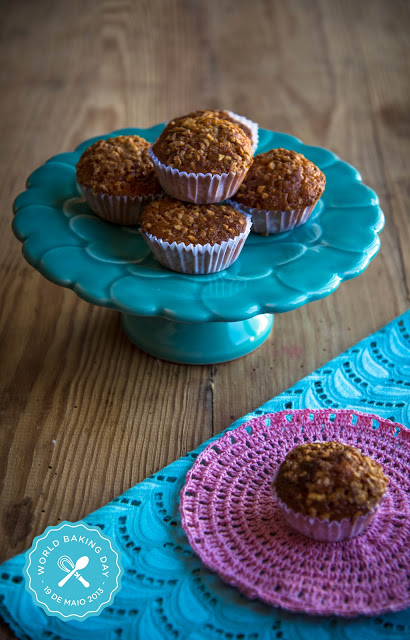 World Baking Day e uns muffins de doce de leite