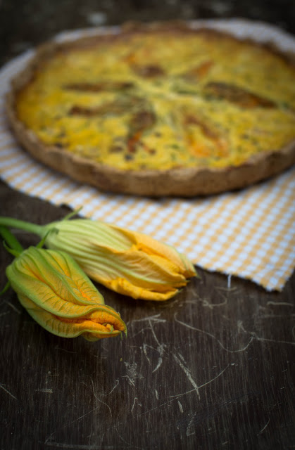 Quiche de courgette (e as suas flores)
