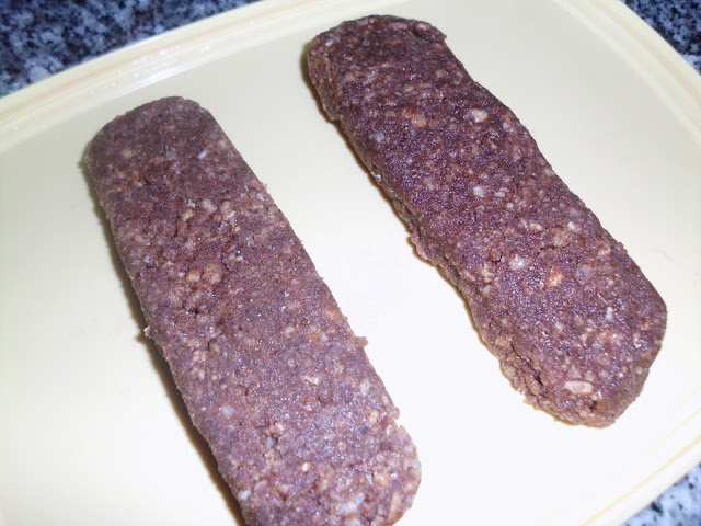 Barras de Salame de Cereais e Chocolate
