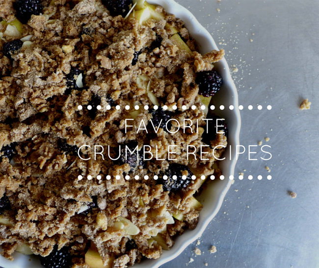 Favorite crumble recipes