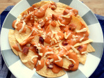 Nachos com cheddar e bacon (Filled Nachos)