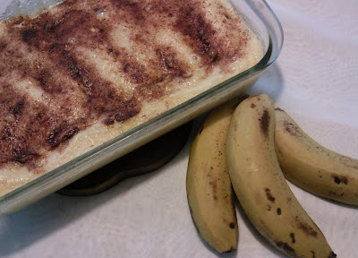 Bananas Assadas com Creme de Peras Light