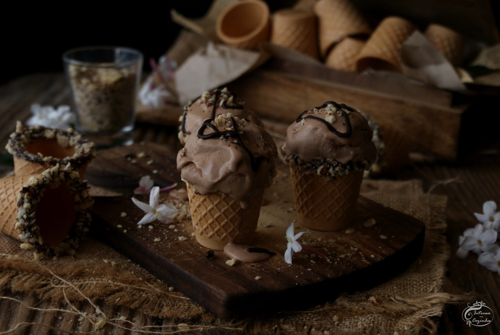 Gelado de Mascarpone & Nutella {Mascarpone & Nutella Ice Cream}