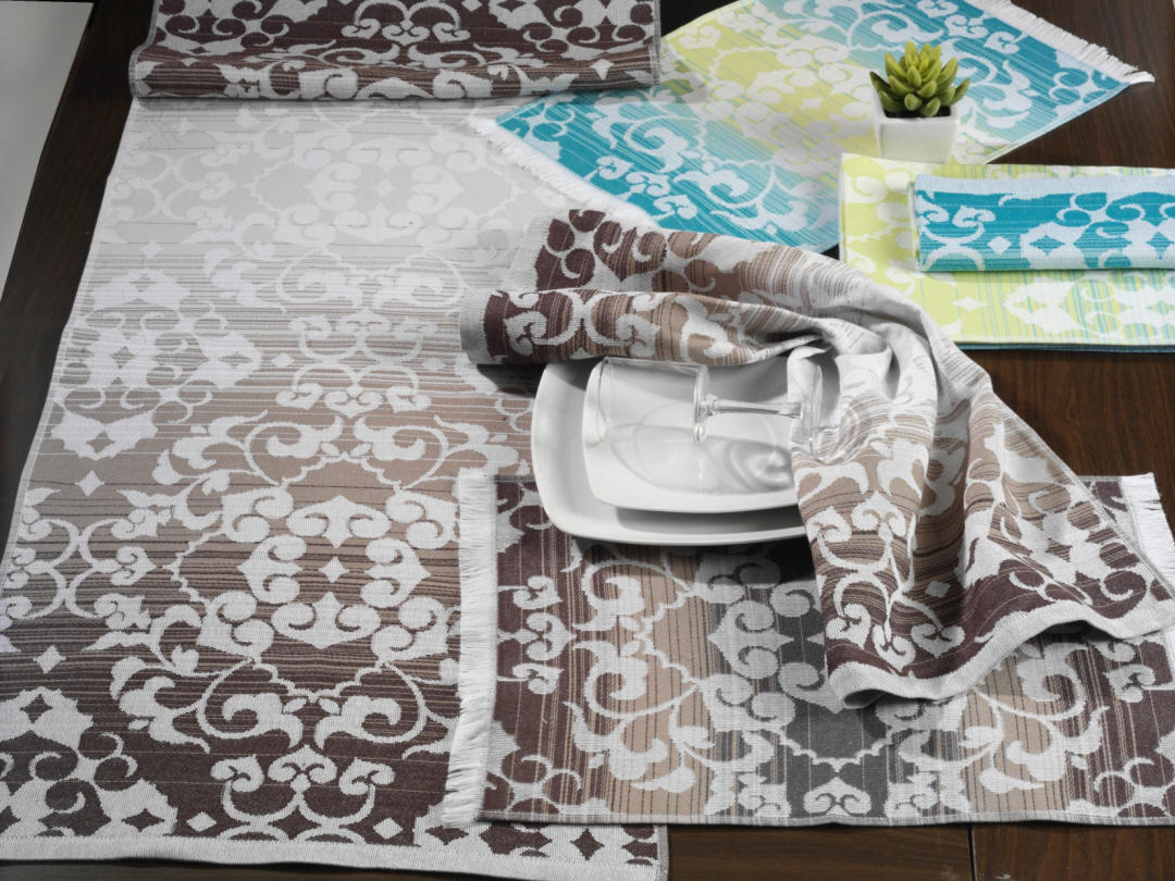 Decore a sua mesa de jantar com runner e individuais fall degrade da Cotton Avenue