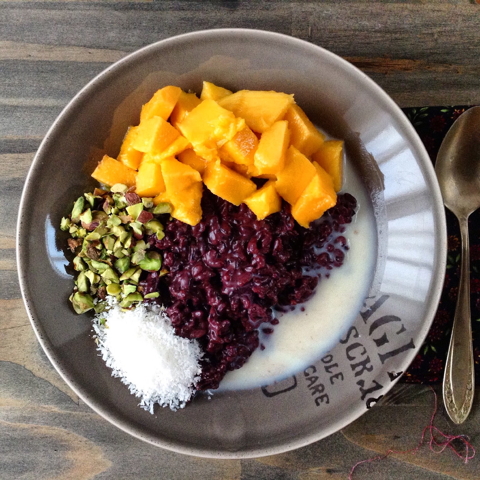 Arroz negro doce | Black rice pudding