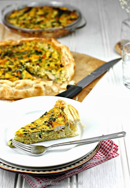 Quiche de frango, leite de côco e manga/Chicken, coconut mik and mango quiche