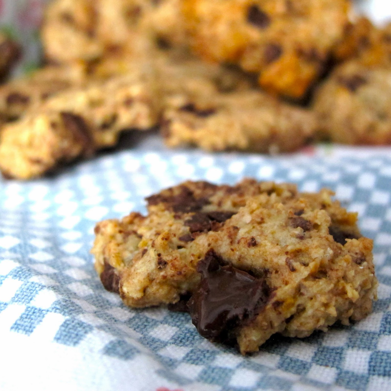 Cookies de banana e aveia com pepitas de chocolate